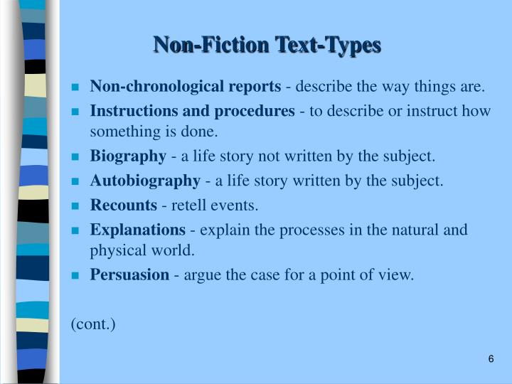 Non-Fiction Text-Types