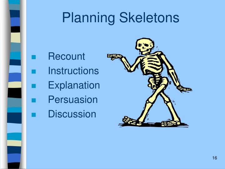 Planning Skeletons