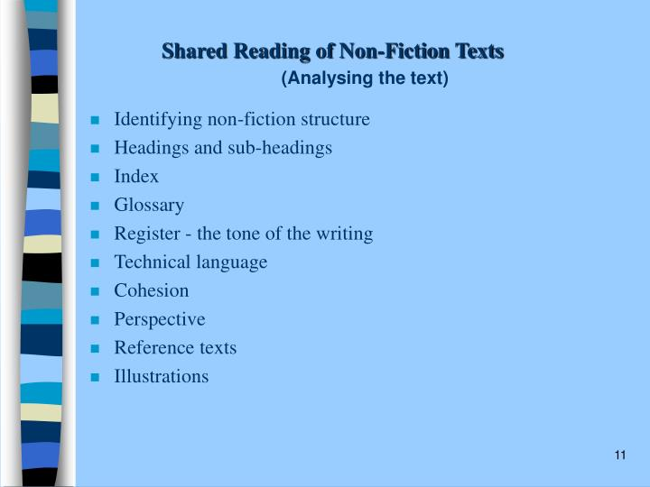 Shared Reading of Non-Fiction Texts