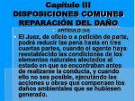 cap tulo iii disposiciones comunes reparaci n del da o