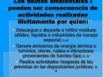 los delitos ambientales 5 pueden ser consecuencia de actividades realizadas il citamente por quien