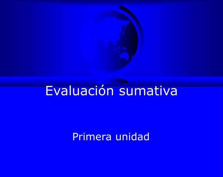 Evaluación sumativa