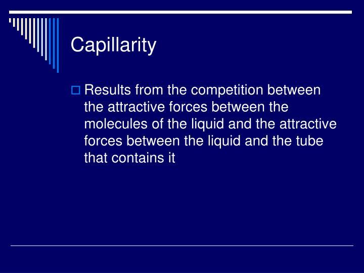 Capillarity
