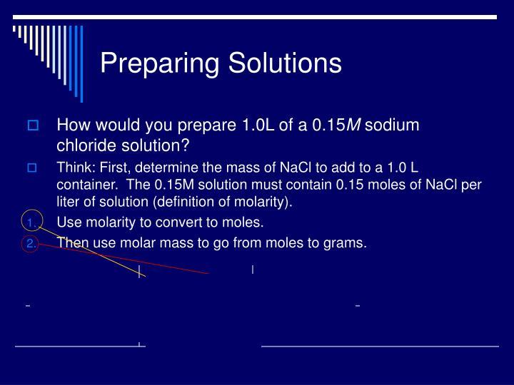 Preparing Solutions