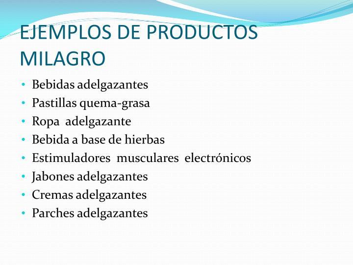 EJEMPLOS DE PRODUCTOS