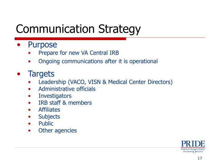 Communication Strategy