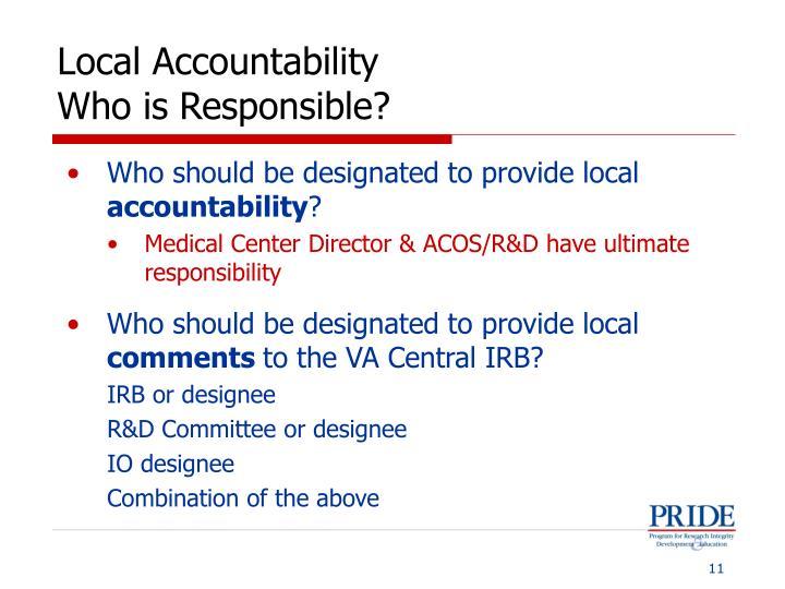 Local Accountability