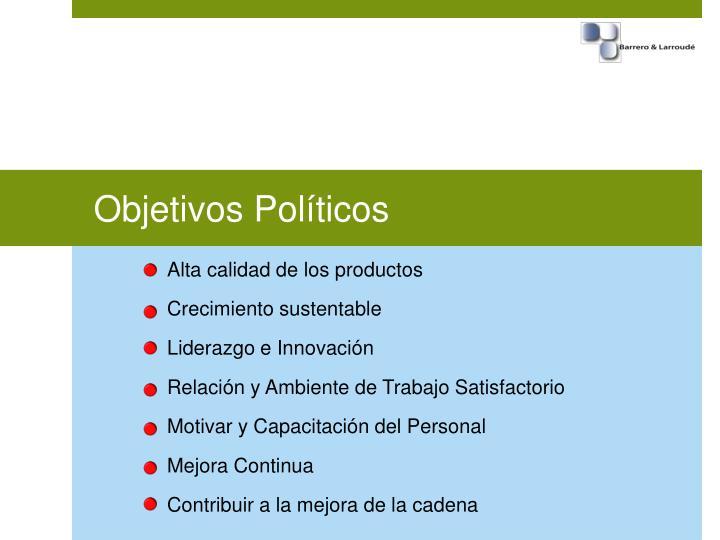 Objetivos Políticos