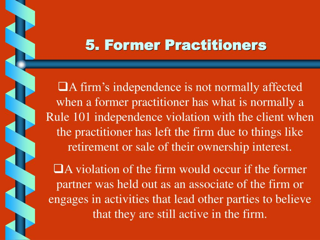 5. Former Practitioners