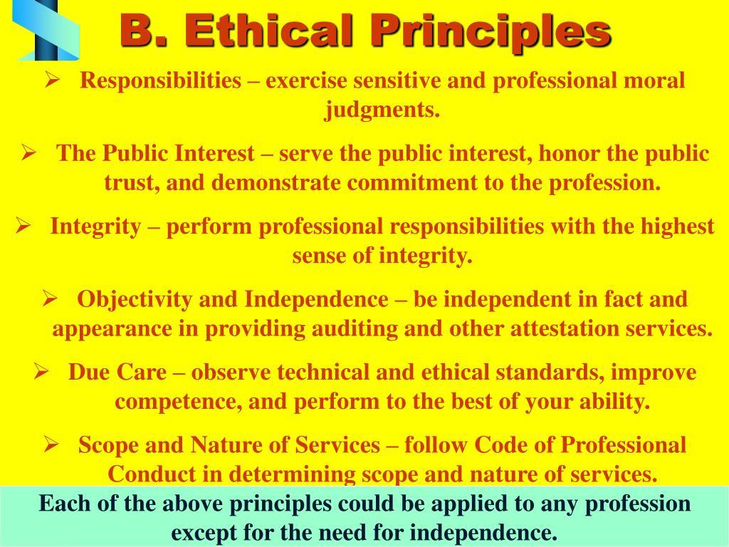 B. Ethical Principles