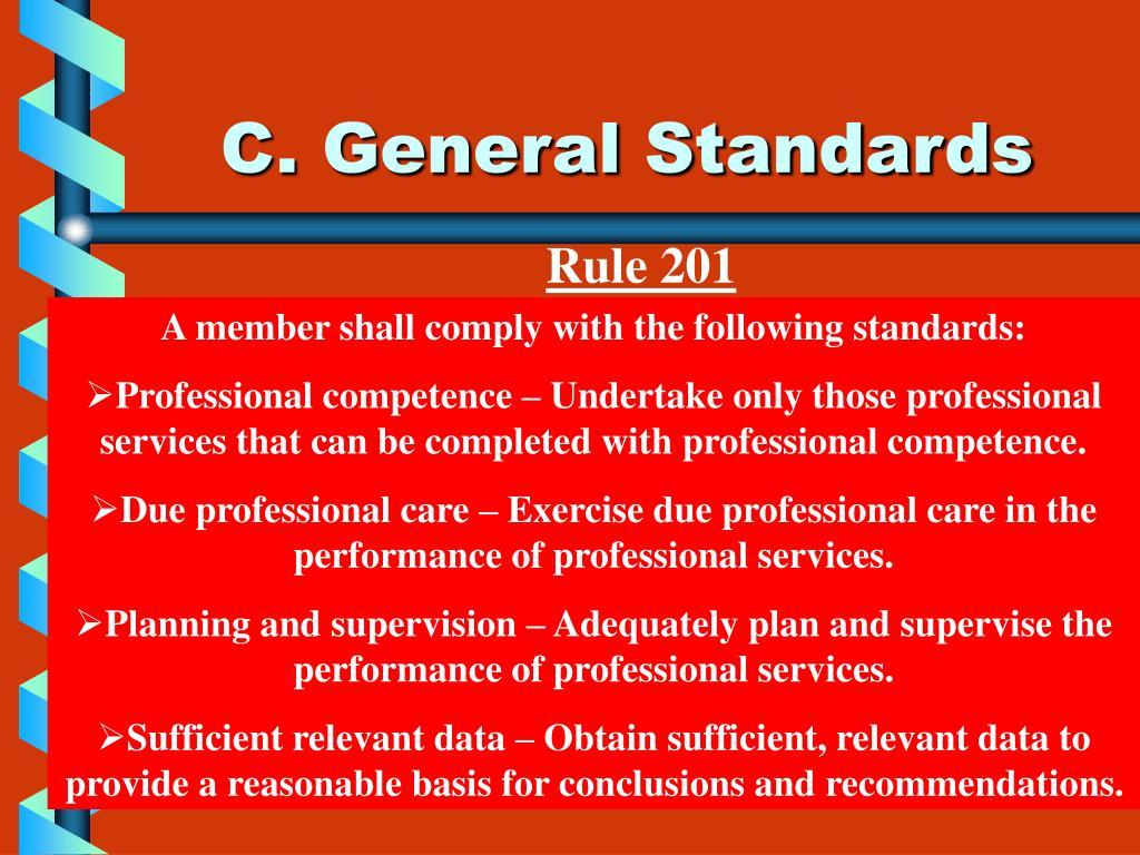 C. General Standards