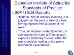 canadian institute of actuaries standards of practice