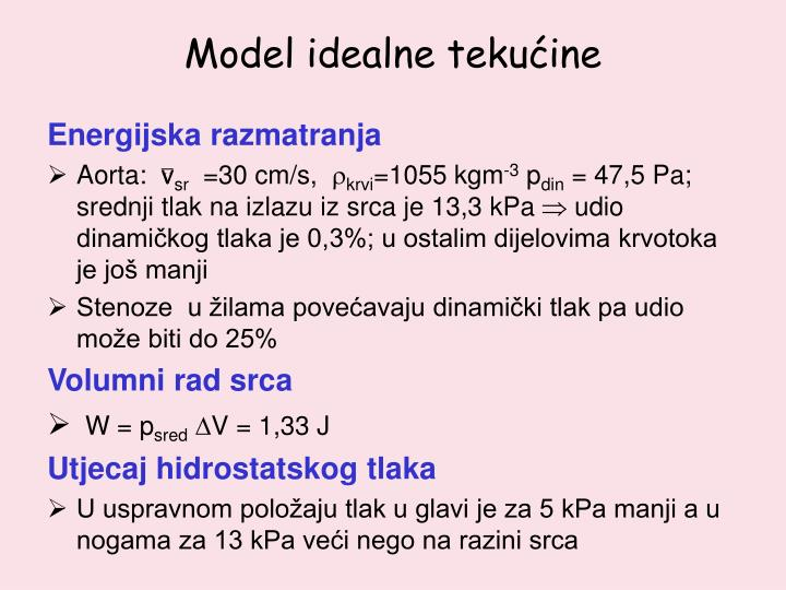 Model idealne tekućine