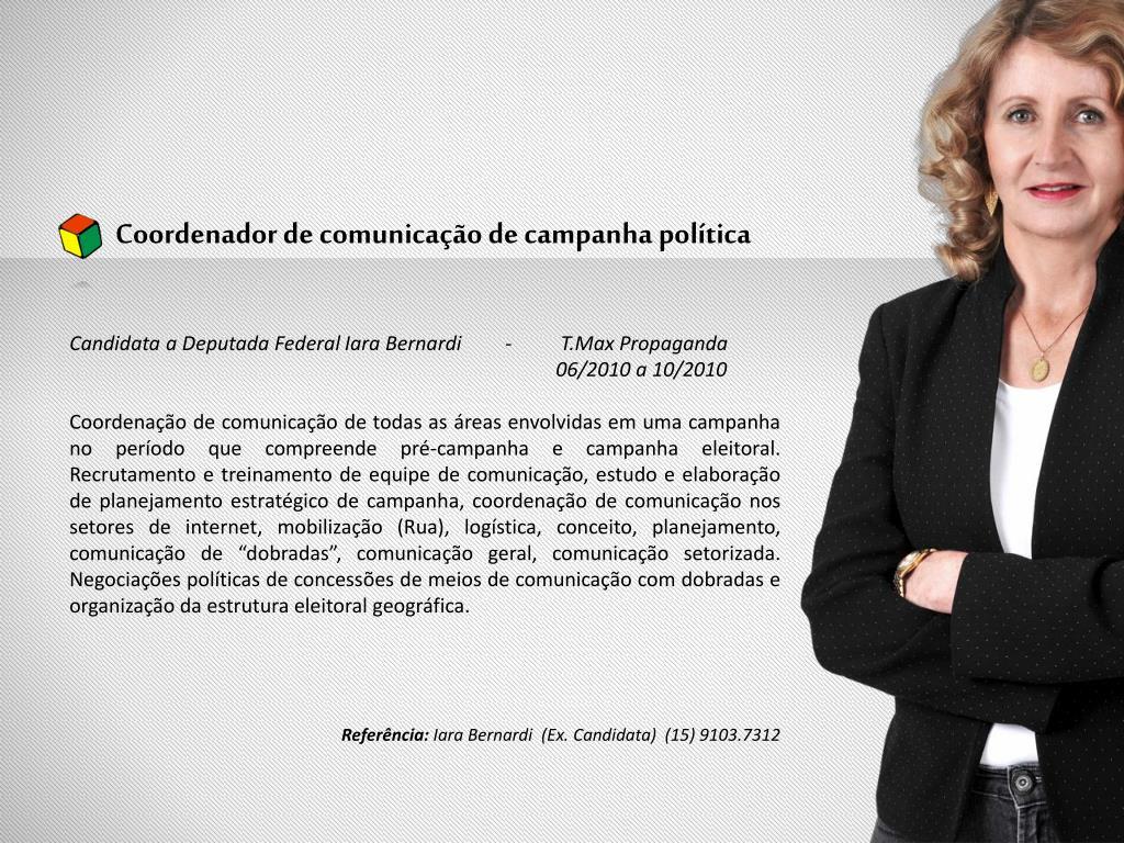 Coordenador de comunicação de campanha política