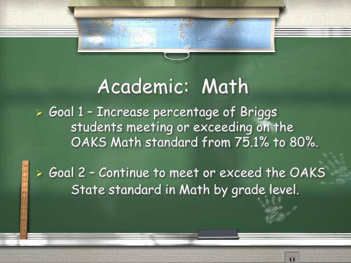 Academic:  Math