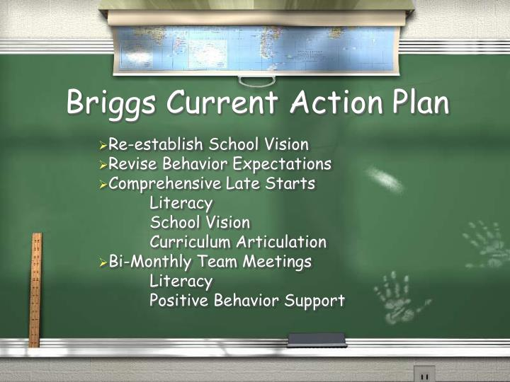 Briggs Current Action Plan