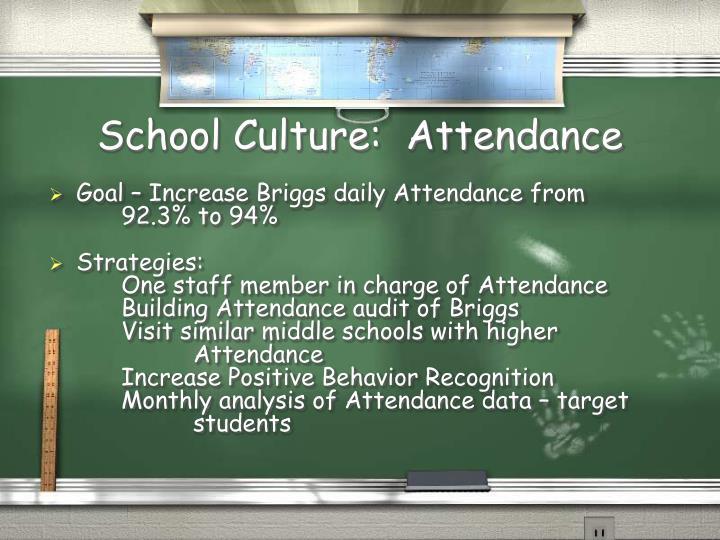 School Culture:  Attendance