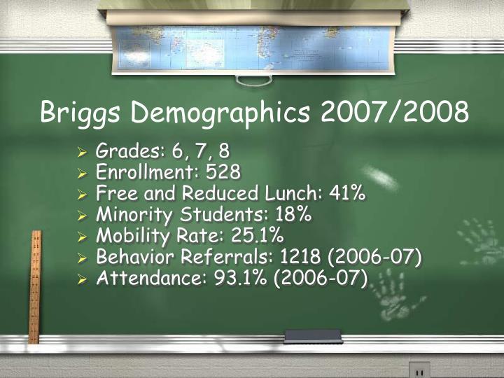 Briggs Demographics 2007/2008
