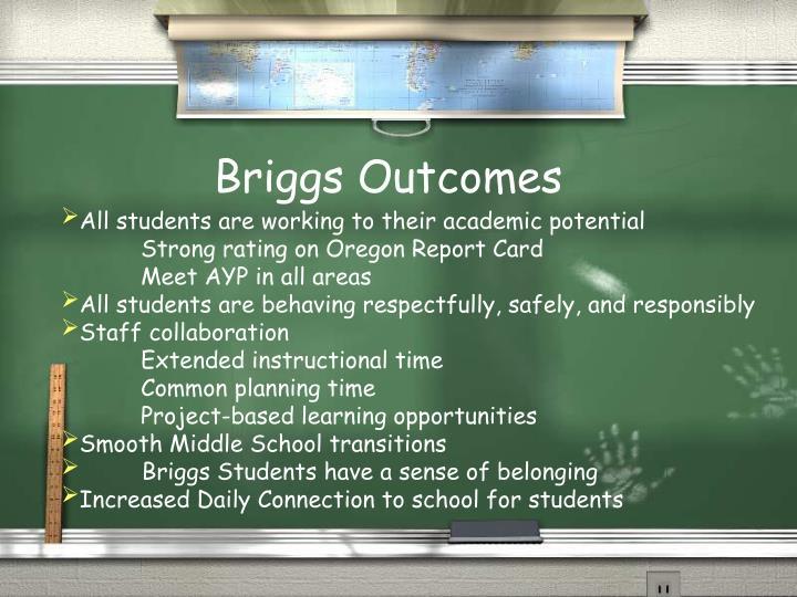 Briggs Outcomes