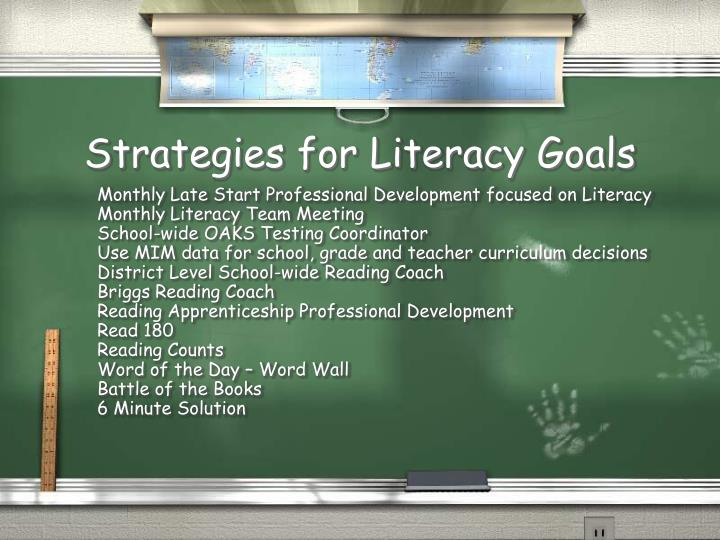Strategies for Literacy Goals