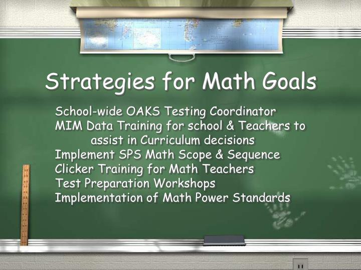 Strategies for Math Goals