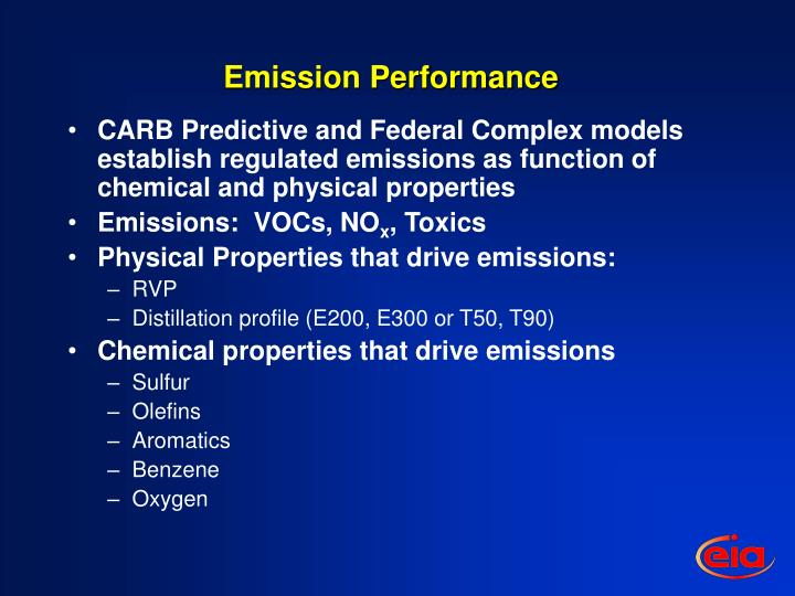 Emission Performance