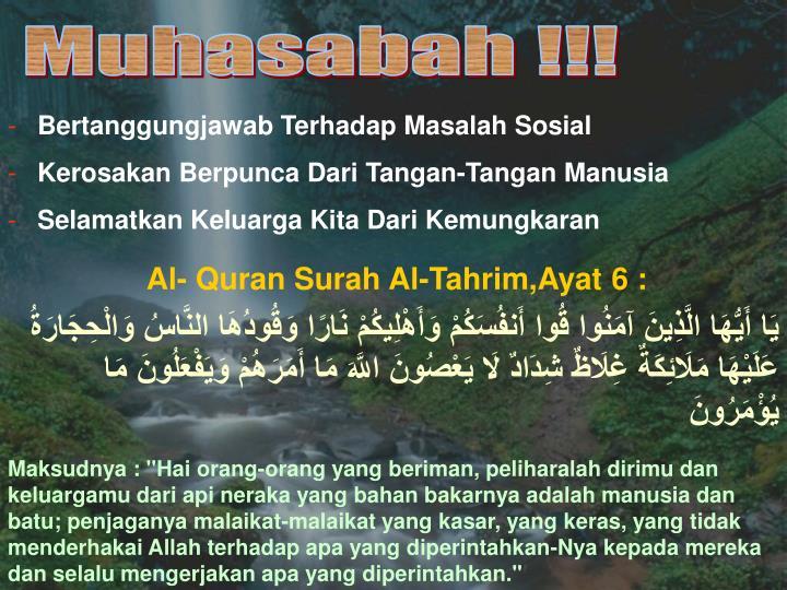 Muhasabah !!!
