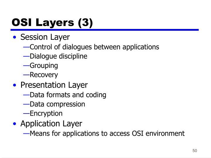 OSI Layers (3)