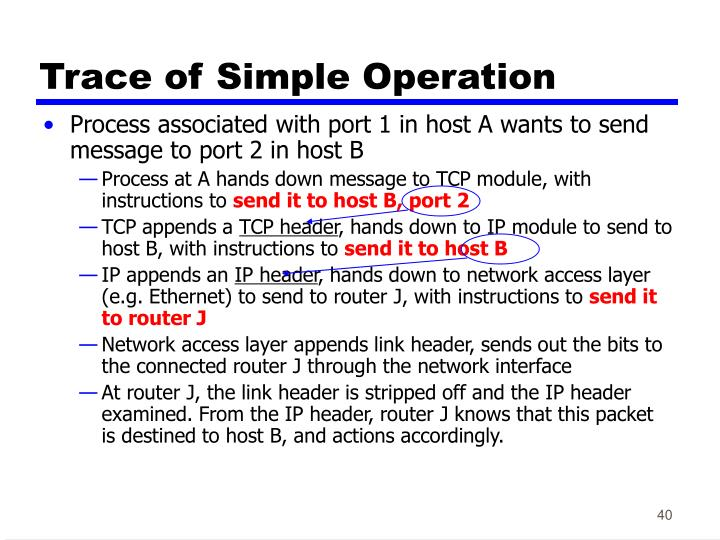 Trace of Simple Operation