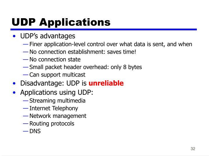 UDP Applications