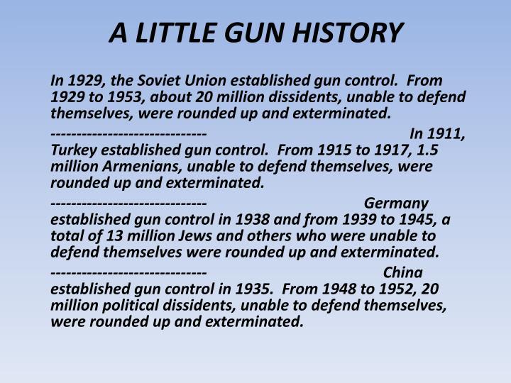 A LITTLE GUN HISTORY