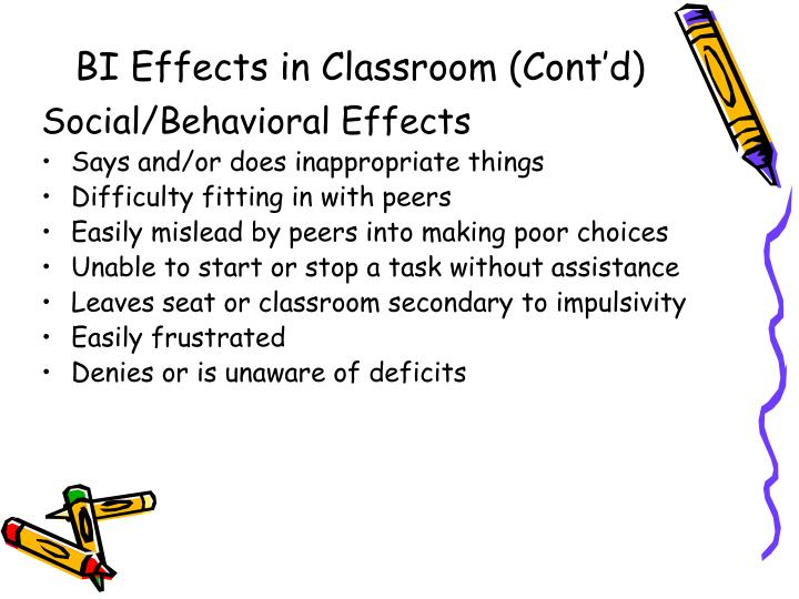 BI Effects in Classroom (Cont'd)