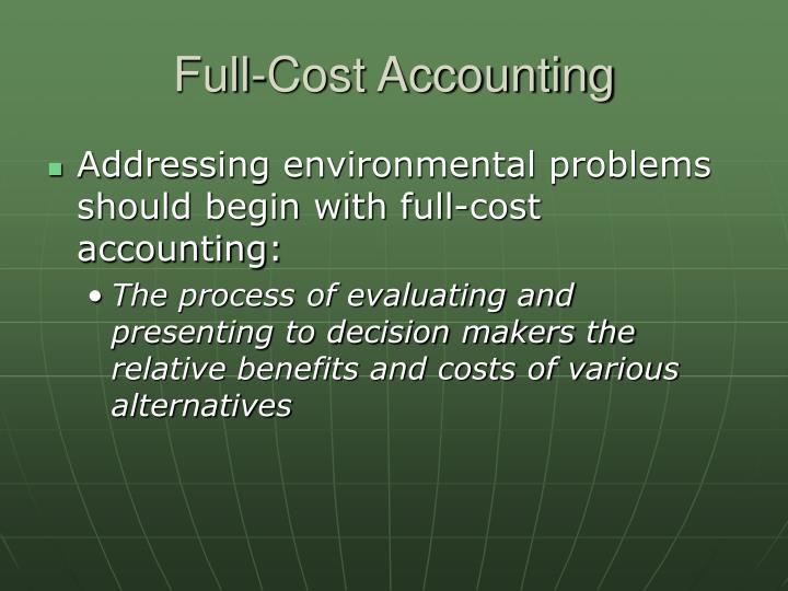 Full-Cost Accounting