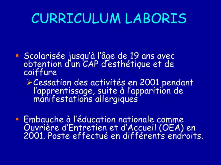 Curriculum laboris