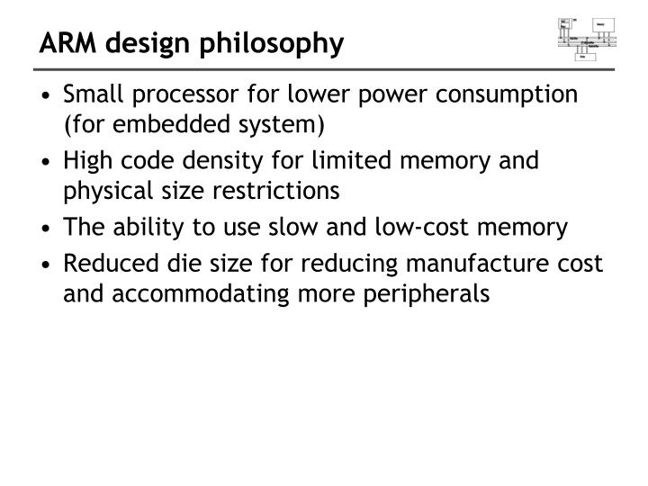 ARM design philosophy