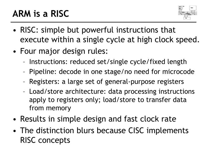 ARM is a RISC