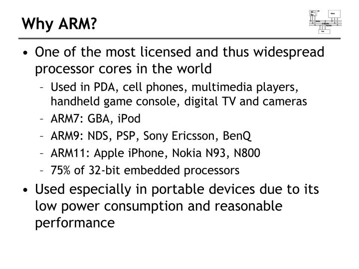 Why ARM?