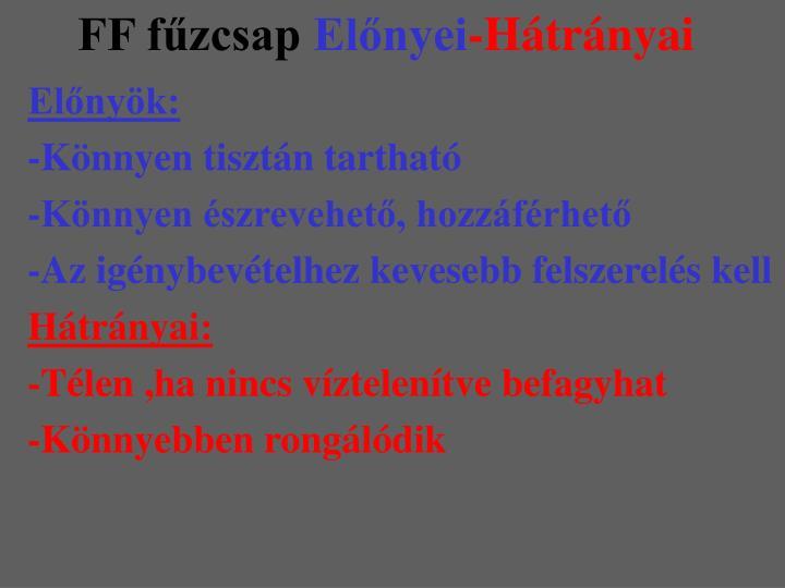 FF fűzcsap