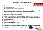 cabletel company facts