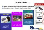 the new cable
