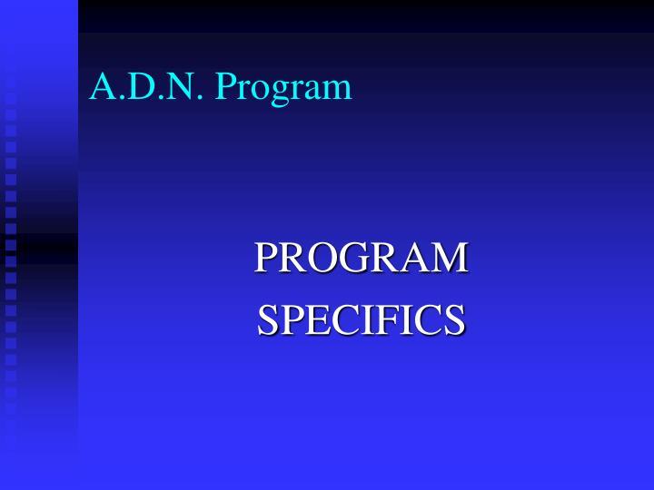 A.D.N. Program