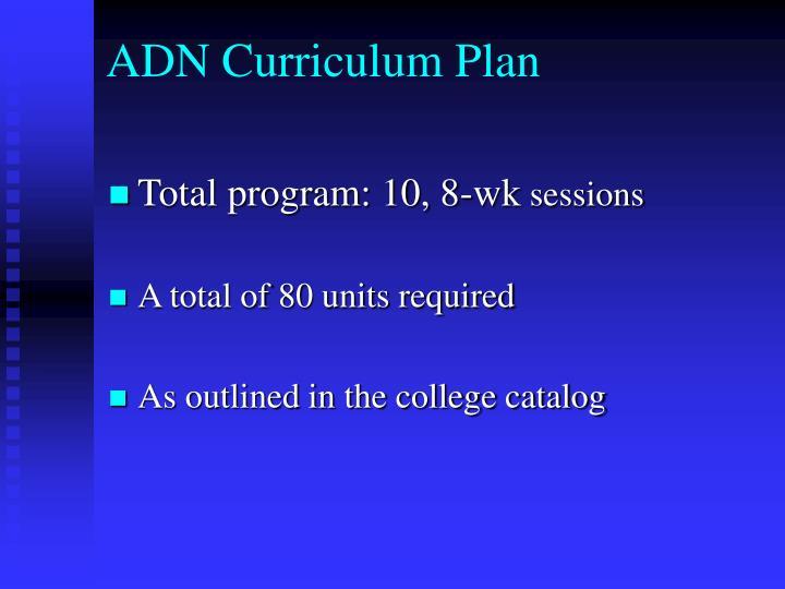 ADN Curriculum Plan