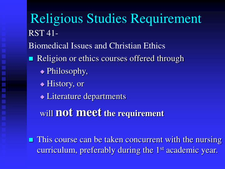 Religious Studies Requirement