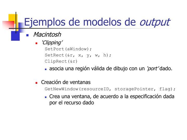 Ejemplos de modelos de