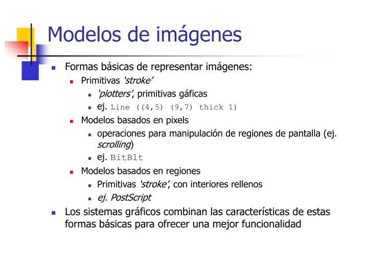Modelos de imágenes