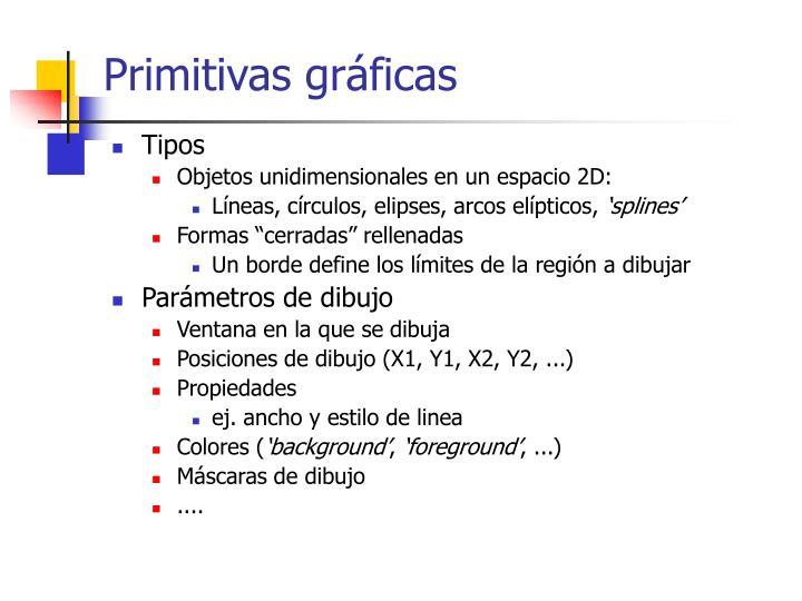 Primitivas gráficas