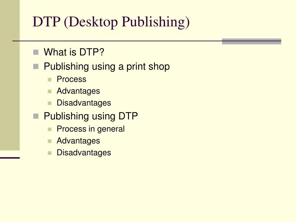 DTP (Desktop Publishing)
