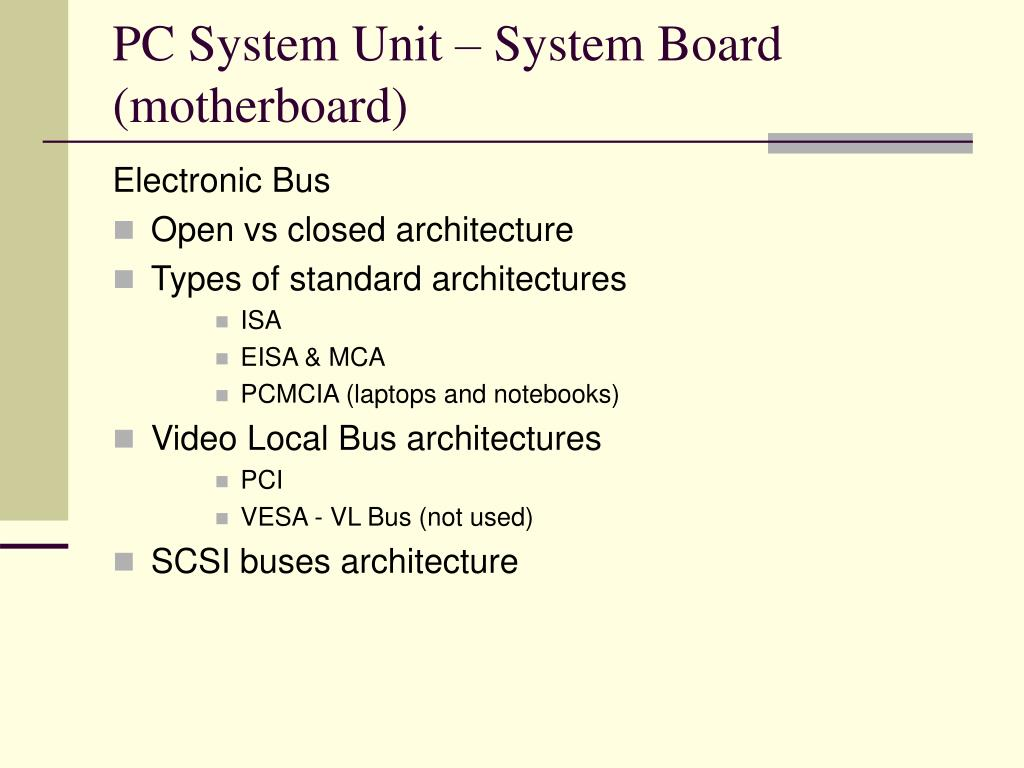 PC System Unit – System Board (motherboard)