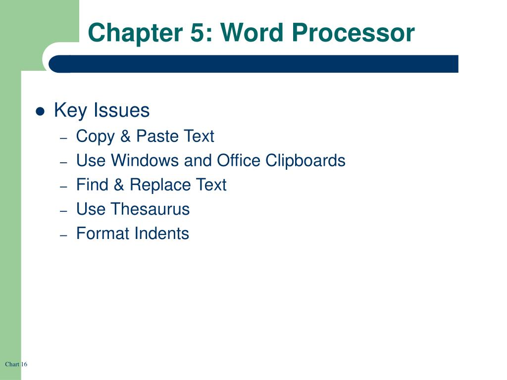 Chapter 5: Word Processor