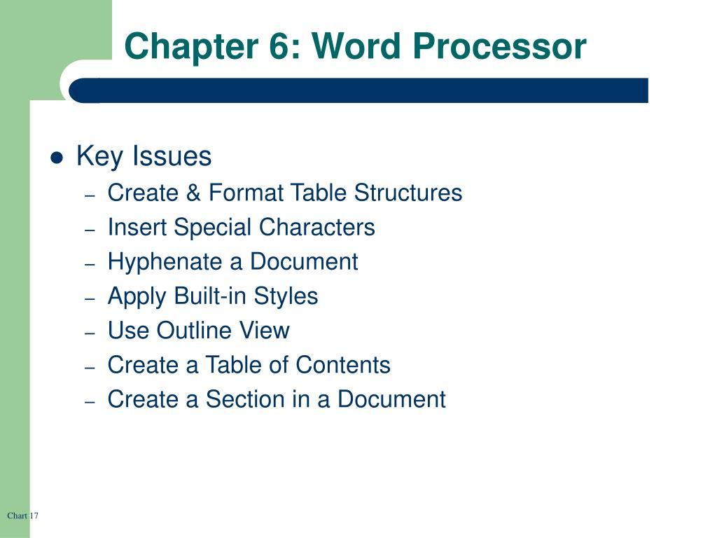 Chapter 6: Word Processor